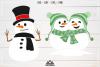 Snowman Winter Packs Svg Design example image 3