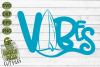 Beach Vibes Surfboard SVG example image 2