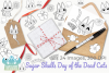 Sugar Skulls Day of the Dead Cats Digital Stamps example image 4