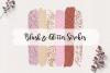 Brush Strokes Rose Gold Glitter | Elegant Clip Art example image 1