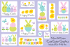 Cute Easter Bunny & Chick Graphics example image 1
