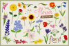 80 Flower Lover Vector Clipart & Seamless Patterns example image 6