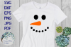 Winter Snowman Faces SVG Cut File and Clipart Bundle example image 3