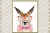 Kangaroo digital Print Watercolor Animal Print Hipster Anmal example image 1