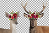 Deer couple with floral burgundy crown match shirt clip art example image 4