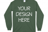 Gildan 5400 Long Sleeve Tshirt Mockups-16 example image 6
