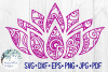 Lotus Flower Zentangle Mandala SVG Cut File example image 1