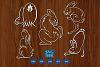 Rabbits svg files, bunny svg, hare, cruelty free symbol example image 2