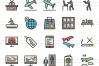 50 Airport Linear Multicolor Icons example image 2