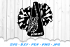 Tiger Mascot Cheer Megaphone Pom SVG DXF Cut Files example image 2