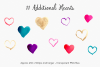 Gold & Vibrant Watercolor Hearts example image 5