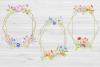 20 Geometric Framesw With Field Flowers, Poppy Wedding Frame example image 6
