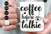 Coffee before talkie SVG File example image 1