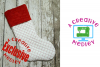 In the hoop Stocking with Cuff and Scales Motif example image 1