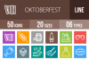 50 Oktoberfest Line Multicolor B/G Icons example image 1