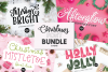 CHRISTMAS FONT BUNDLE - 4 Hand Lettered Christmas Fonts example image 1