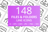 148 Files & Folders Line Icons example image 1