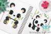 Cute Pandas Clipart, Instant Download Vector Art example image 3