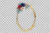 Watercolor elegant floral borders clip art. Wedding frames example image 15
