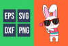 Funkie Bunny - SVG, EPS, DXF, PNG, example image 5