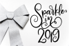 New Year SVG Bundle- Hand-lettered - 11 SVG Cut Files example image 3