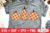 Gingham Plaid Pumpkins | Fall Cut File example image 4