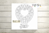Hot air balloon paper cut design SVG / DXF / EPS / PNG files example image 6