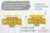 Cheer Template 0020, SVG Cut File example image 2