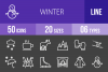 50 Winter Line Inverted Icons example image 1