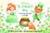 Leprechauns. Patrick's Day watercolor set example image 1