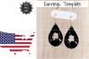 Earrings Template - Alaska Teardrop Earrings Svg example image 1