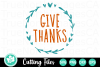 Give Thanks - A Fall SVG Cut File example image 2