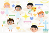 Angel Boys Clipart, Instant Download Vector Art example image 2