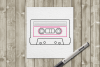 Mix Tape SKETCH Single Line Drawing Pen & Foil Quill SVG example image 2