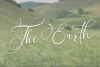 The Earth - A handwritten script font example image 1