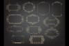 Deco Gold foil frames clip arts, Elegant calligraphic frames example image 2