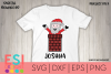 Christmas | Santa in Chimney Design| SVG Files example image 1