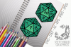D20 coloured twin pack SVG, Silhouette Studio, Cricut, Eps example image 1