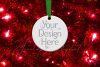 Round Christmas Ornament Mockup, Bauble Mock- Up, JPG example image 11