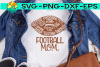Football Mom - Words - SVG - DXF - EPS - PNG example image 2