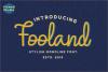 Fooland - Monoline Script Font example image 1