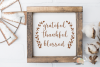 Grateful Thankful Blessed svg cut file Fall Thanksgiving svg example image 1