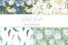 Boho chic digital paper pack, watercolor floral seamless example image 3