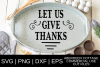 Let Us Give Thanks SVG example image 1
