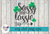 Sassy Little Lassie Irish St Patrick's Day SVG Cutting Files example image 1