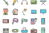 50 Home Electronics Linear Multicolor Icons example image 2