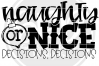 Naughty or Nice Decision Decisions - Black SVG example image 2