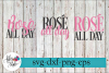 Rose' All Day Mini Wine Bundle SVG Cutting Files example image 1