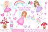Fairy clipart,Unicorn clipart,Fairy graphics & Illustrations example image 1