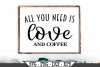 All You Need Is Love And Coffee SVG example image 1